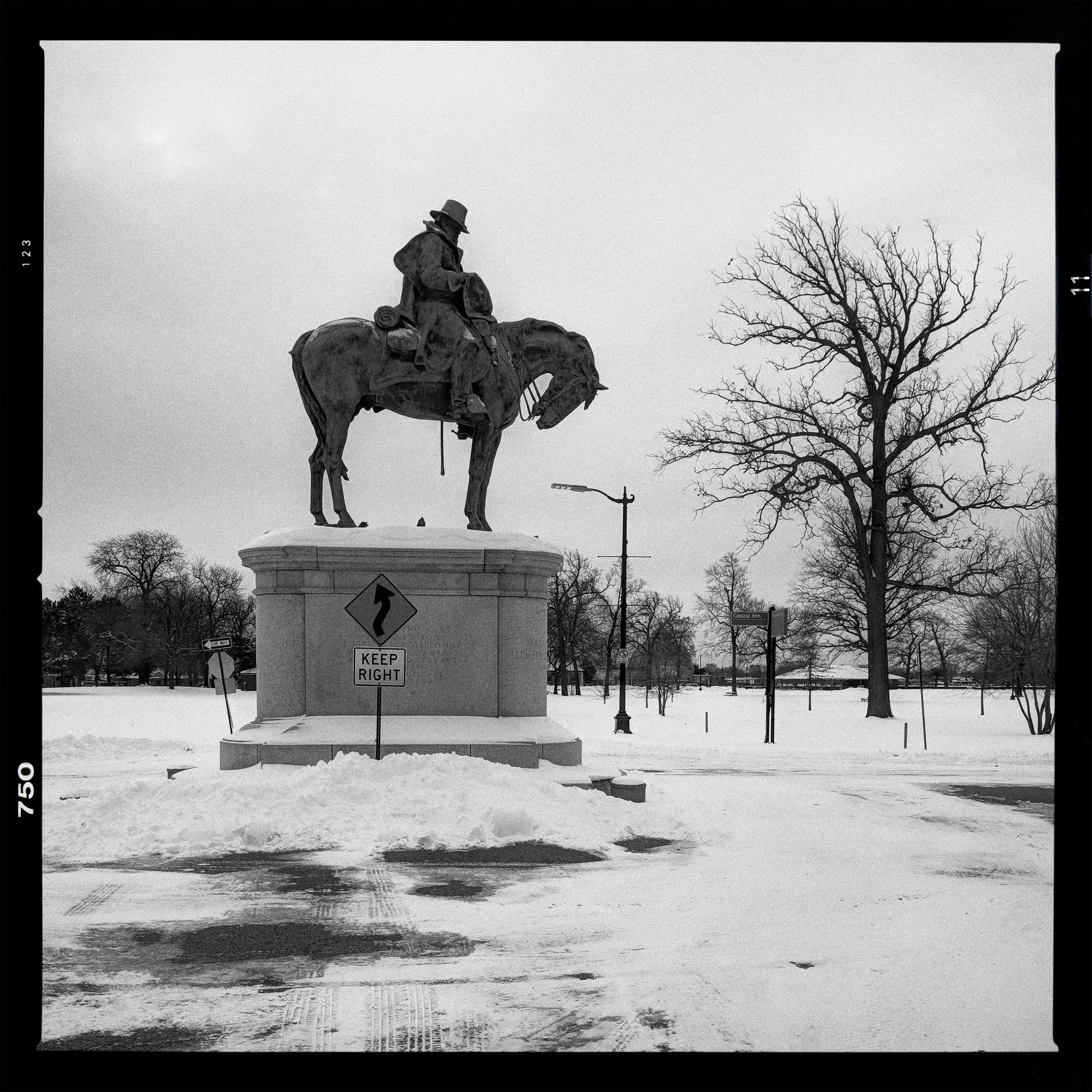 "Major General Alpheus Starkey Williams, Horse ""Plug Ugly"", Belle Isle Park, Detroit"