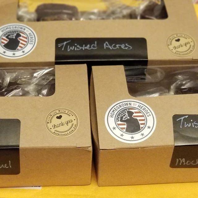 Received the most delicious homemade chocolates from @twistedacresfarmok  loved them all, and mocha cookie the best. You can taste the purity in the ingredients- I shared some with a friend and she said it reminded her of back home chocolate candy in the Caribbean. . . . . #veteranownedbusiness  #organicchocolate #homemadecandy #delicious #chocolate #farmfresh