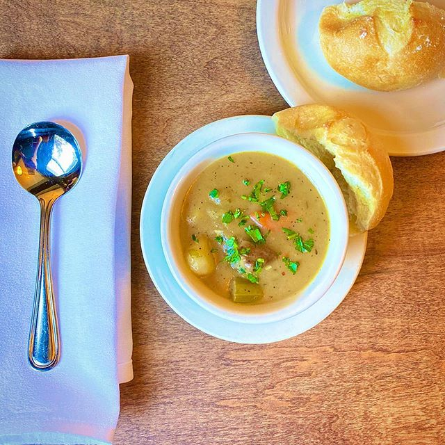 Big chill in the air = soup's on! 🥄 Start your meal with a cup or bowl, fresh every day.