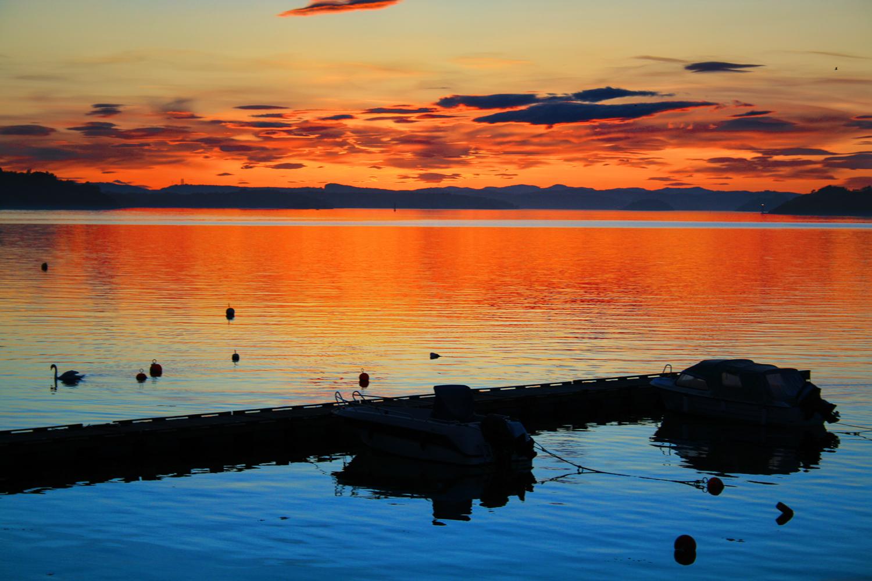 Vestfolds vakreste solnedgang i   HELGEROA    SE DEN HER