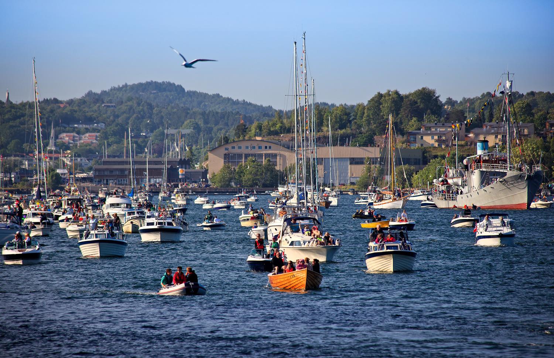 Tradisjonen tro skal sankthansaften i Sandefjord feires med båtkortesje.