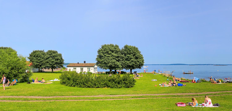 Badeparken i Åsgårdstrand