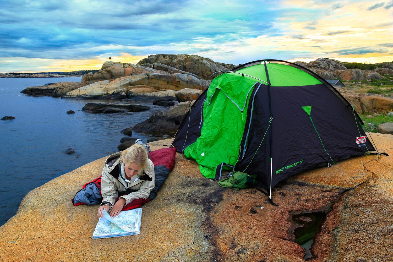 Planlegg neste dags løype og teltplass    TELTTUR    LES MER