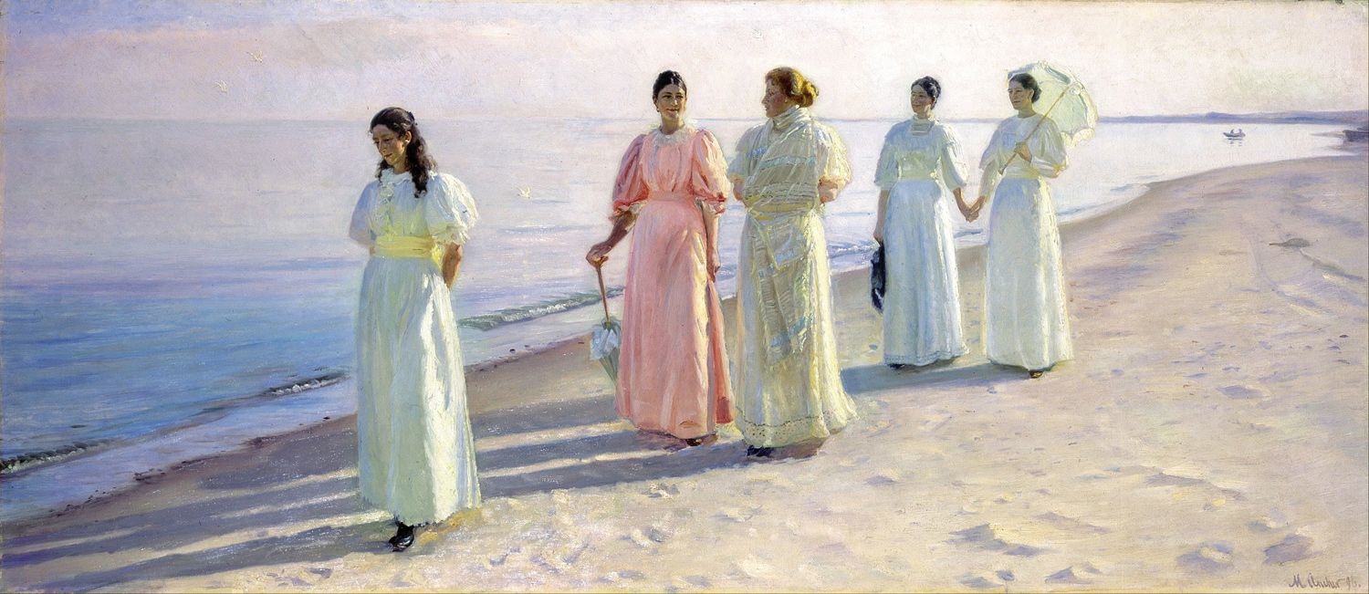Michael Ancher: A Stroll on the Beach (1896)