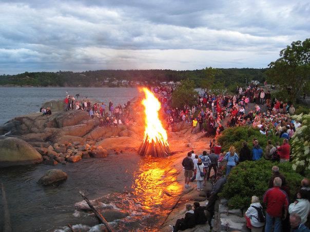 Det er ventet ca. 3000 gjester på Tollerodden i Larvik i kveld. Bildet er publisert med tillatelse fra Tolleroddens Venner.