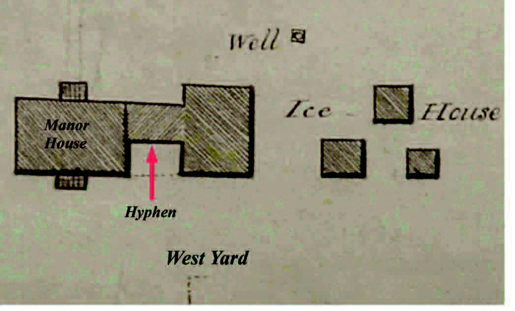 1836 plan of the Rock Hall site by Morris Fosdick