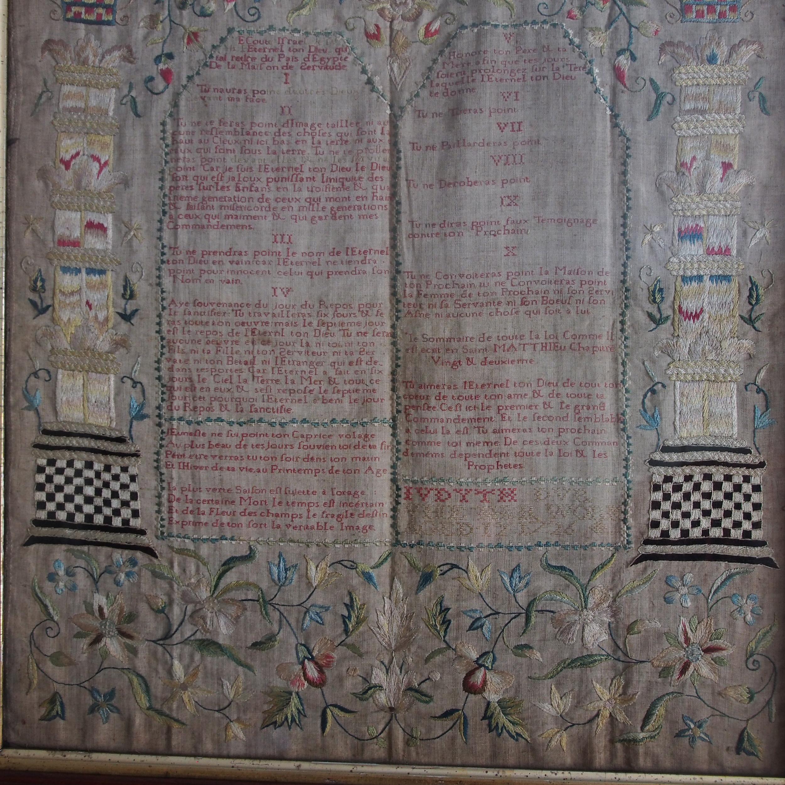 Embroidery of Ten Commandments