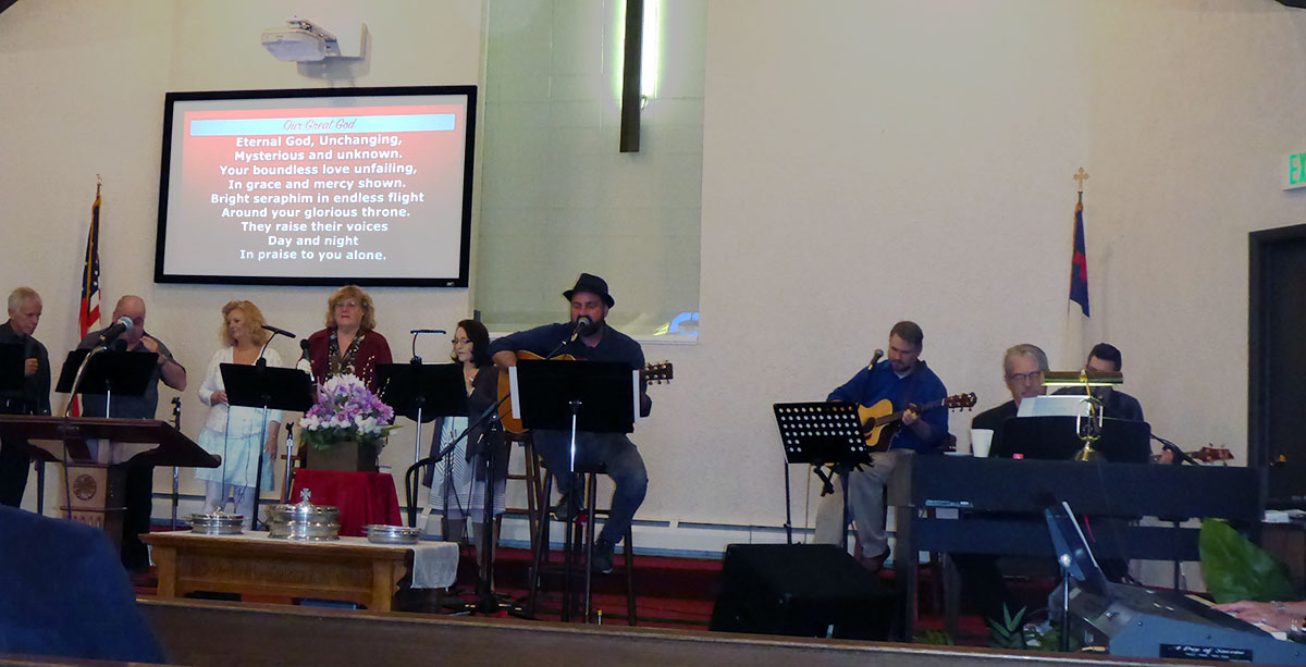 Our worship team leads us into deep moments of intimate worship with God directed by our Music Minister, Jim Simmons.