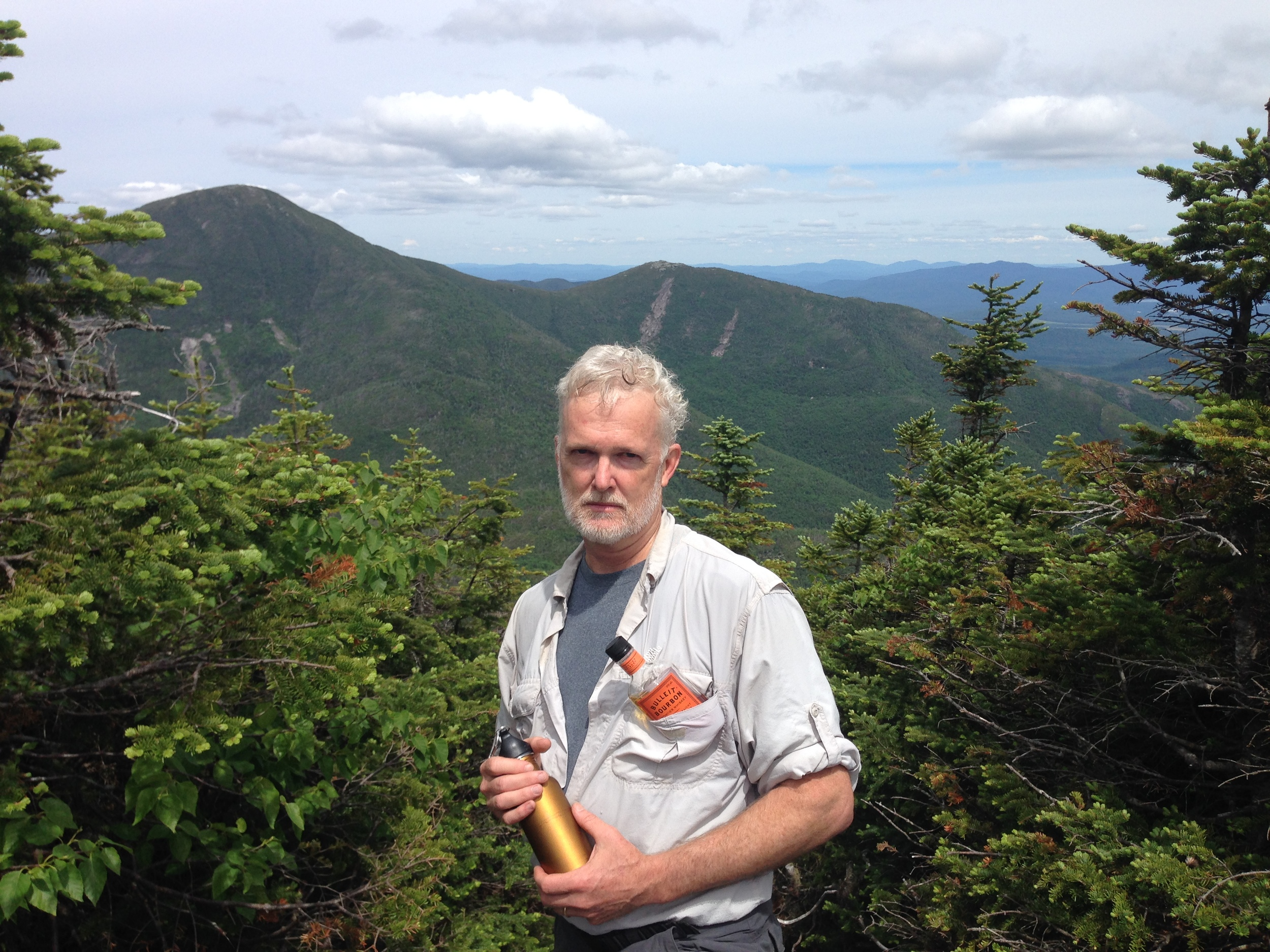 Real hikers carry Bulleit bourbon in their chest pocket