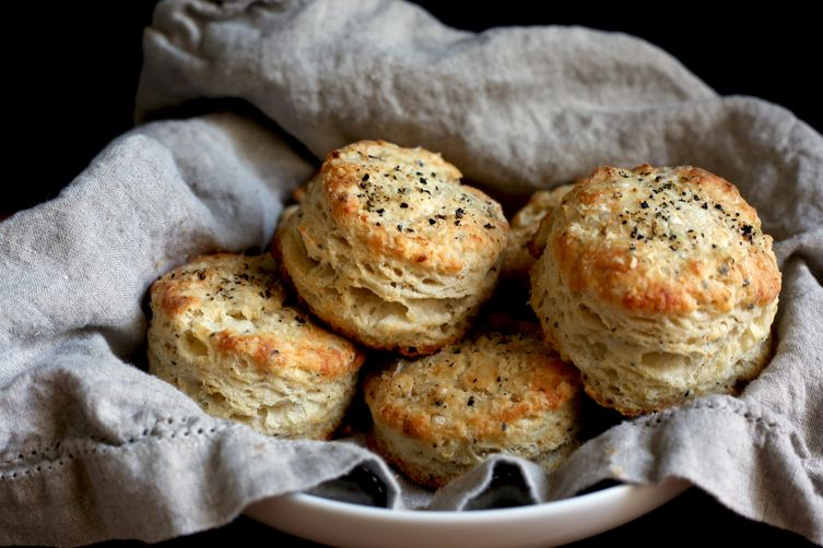 Parmesan biscuits plus a hefty grind of fresh black pepper
