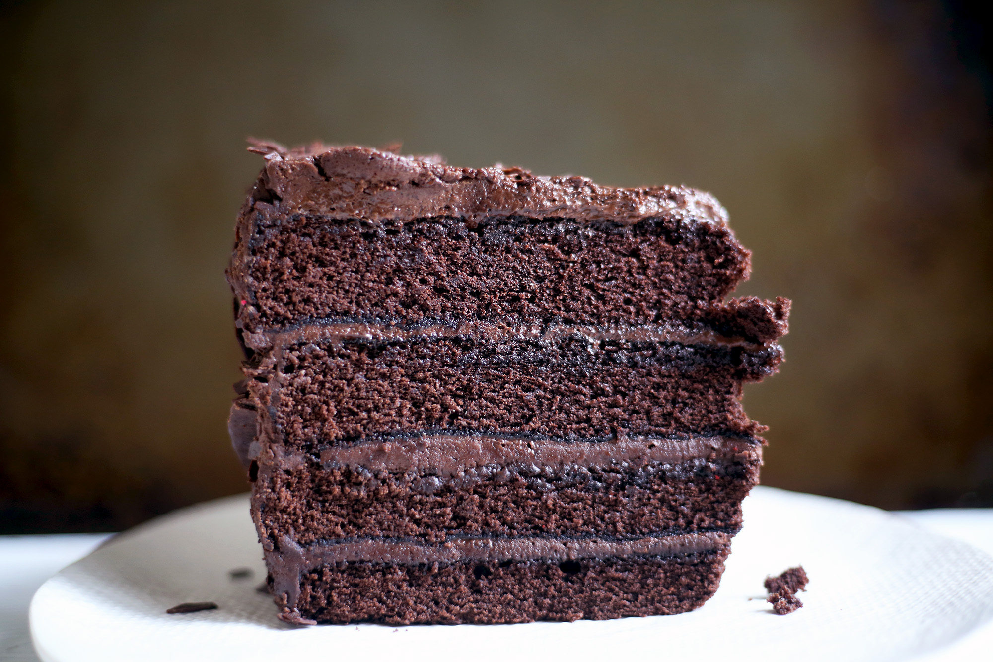 Four Layer Secret Ingredient Chocolate Fudge Cake 600 Acres