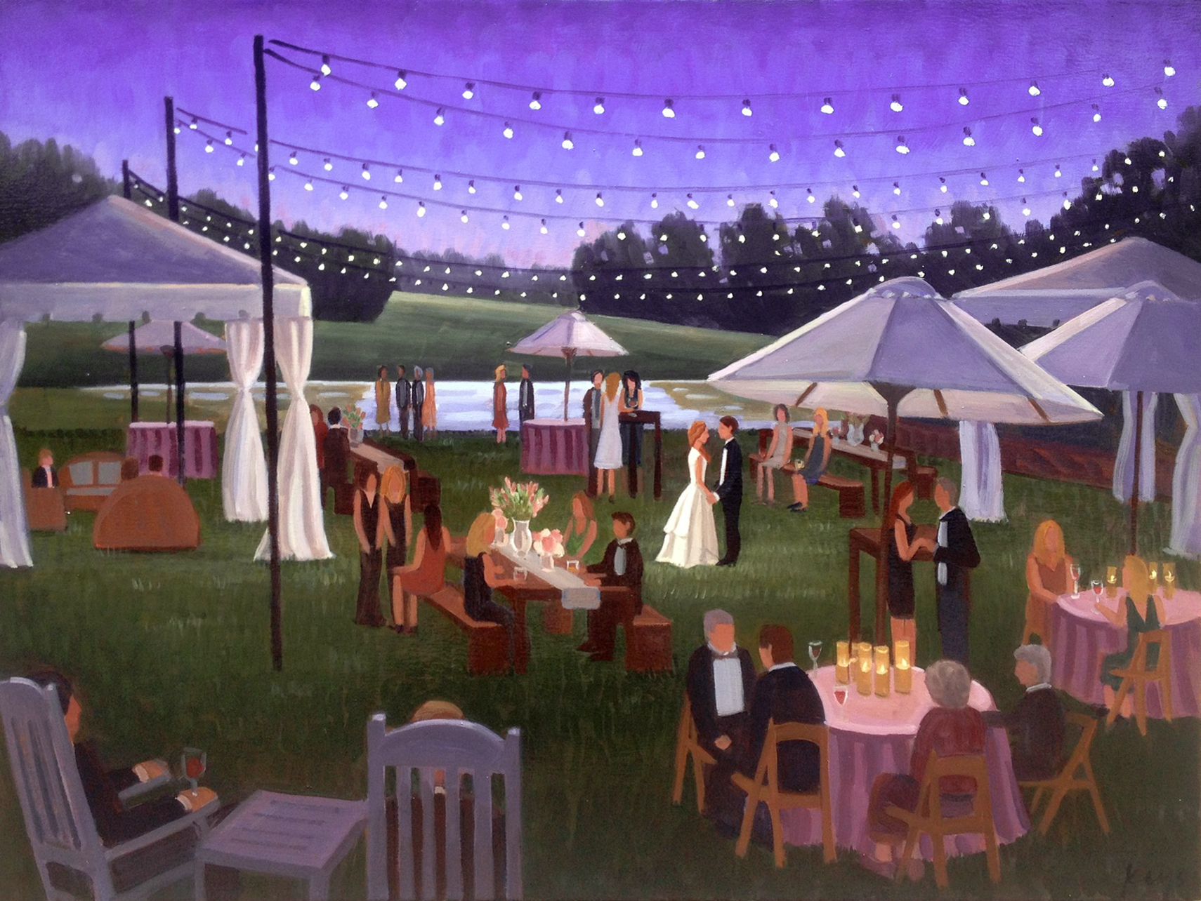 Live Wedding Painting: Wilmington, NC, Landfall Country Club