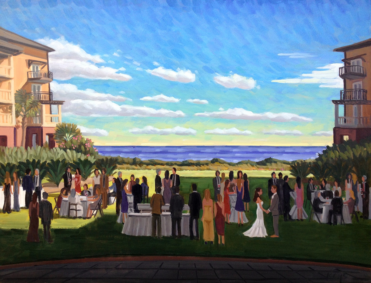 Live Wedding Painting: Kiawah Island, SC, The Sanctuary
