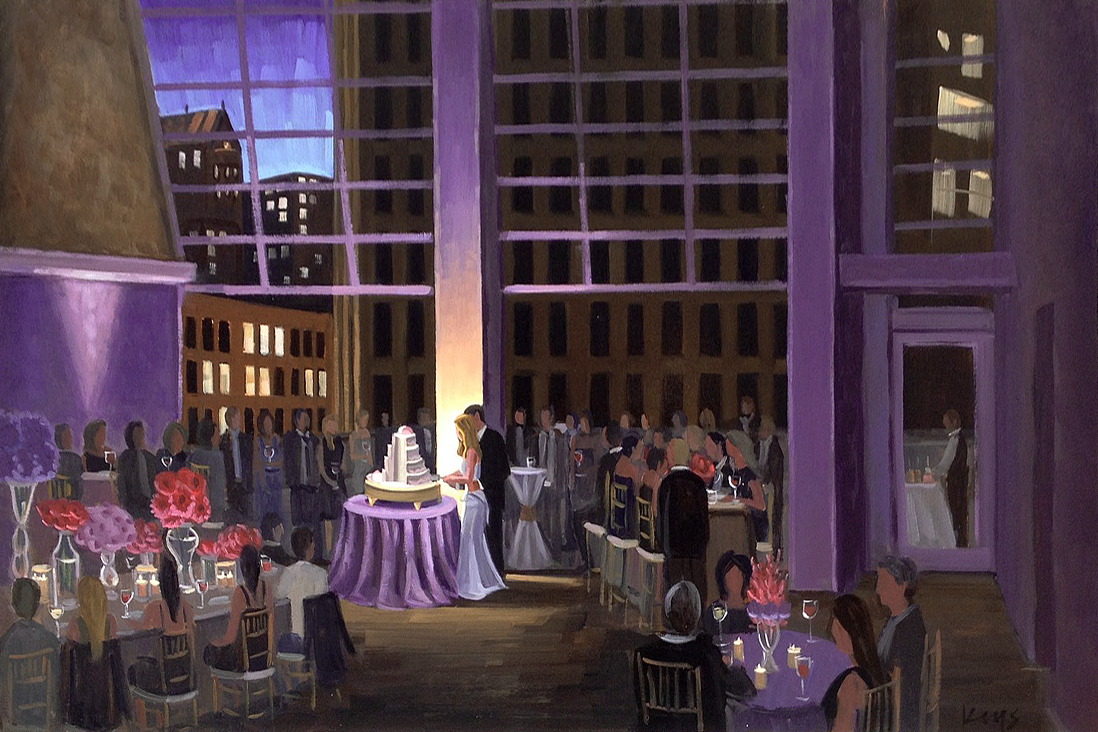 Live Wedding Painting: Charlotte, NC, The Foundation for the Carolinas