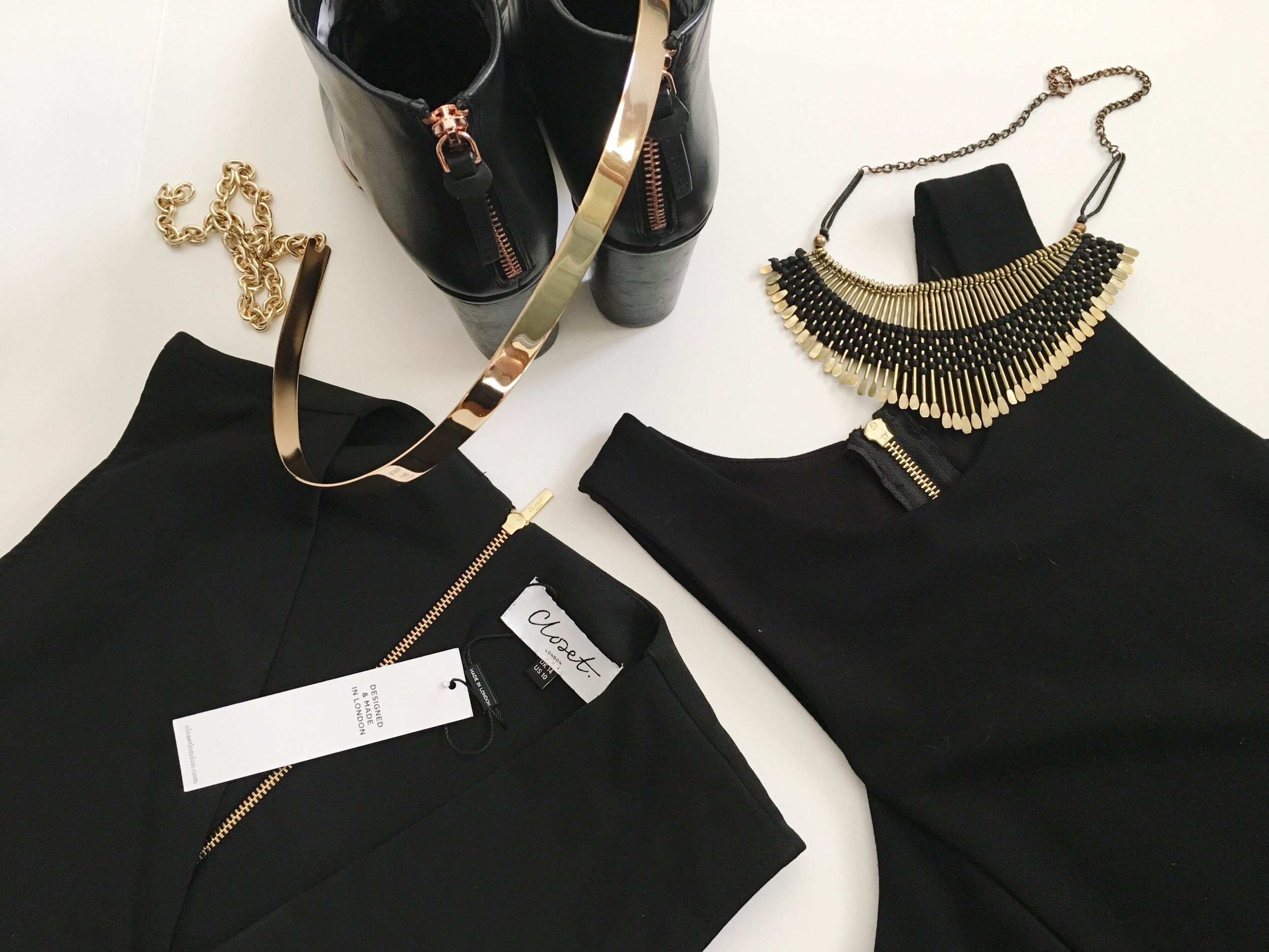 Prepping my wardrobe for the day and evening events.