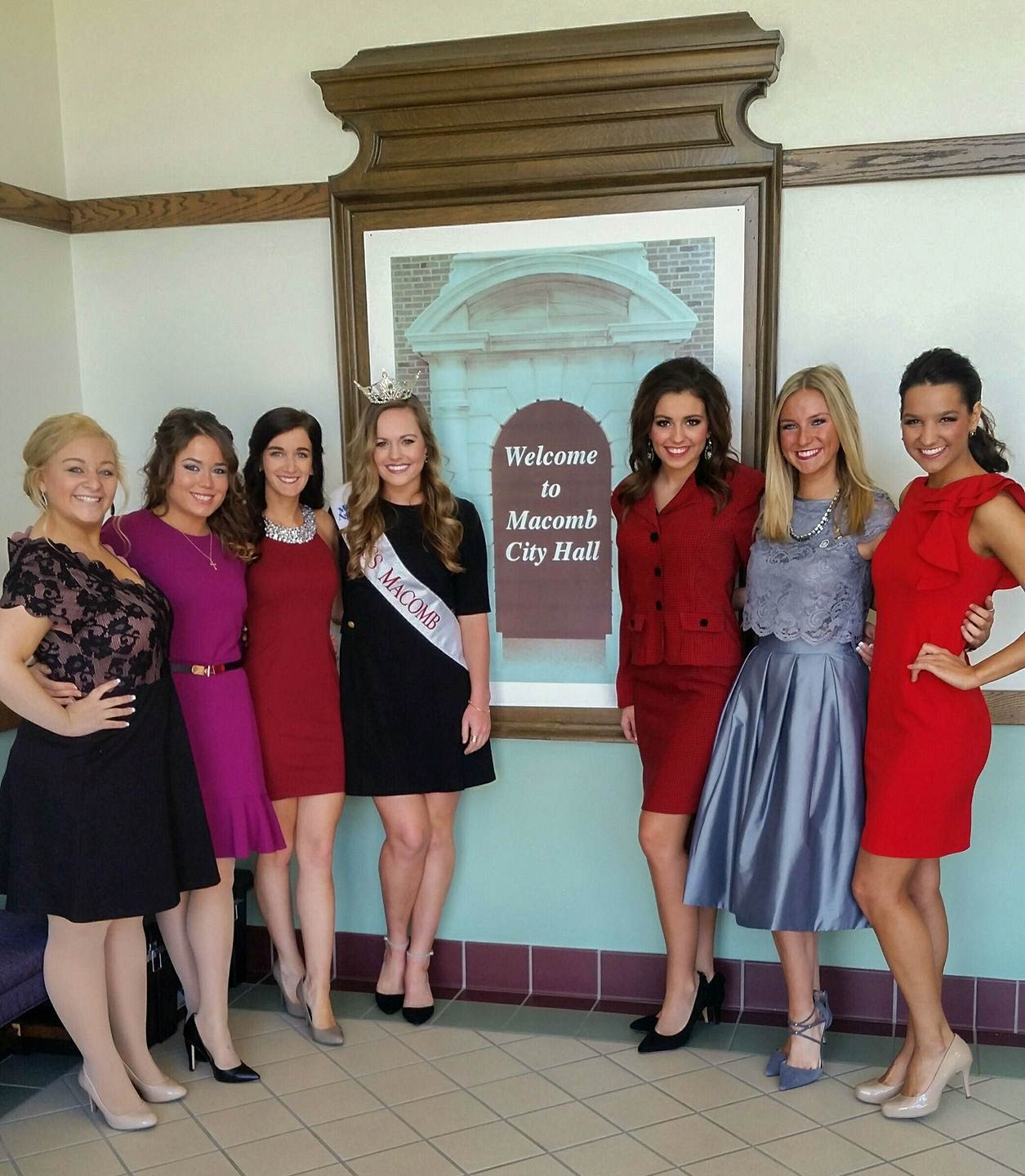 The Miss candidates ready for their interviews! Photo Source:  Facebook