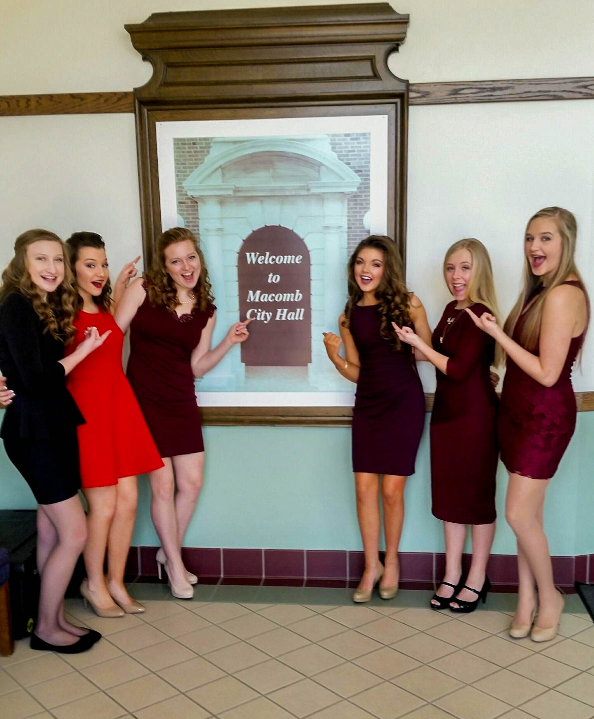 The Miss Outstanding Teen candidates at City Hall for their interviews. Photo Source:  Facebook