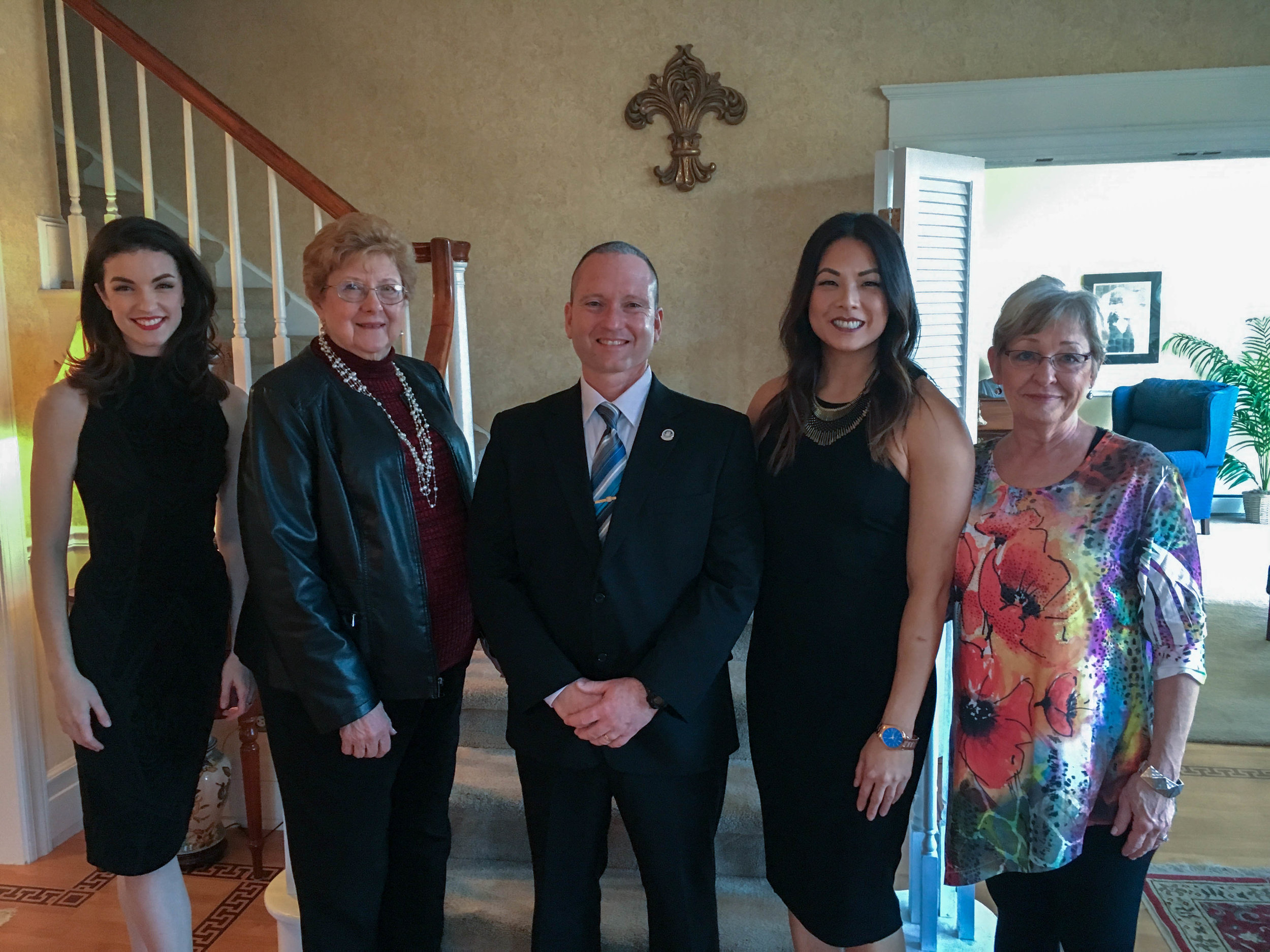 My fellow judges for the Miss Macomb Scholarship Pageant. From left to right: Erin O'Connor, Nancy Lee, Curt Barker, Me, Rauna Brown