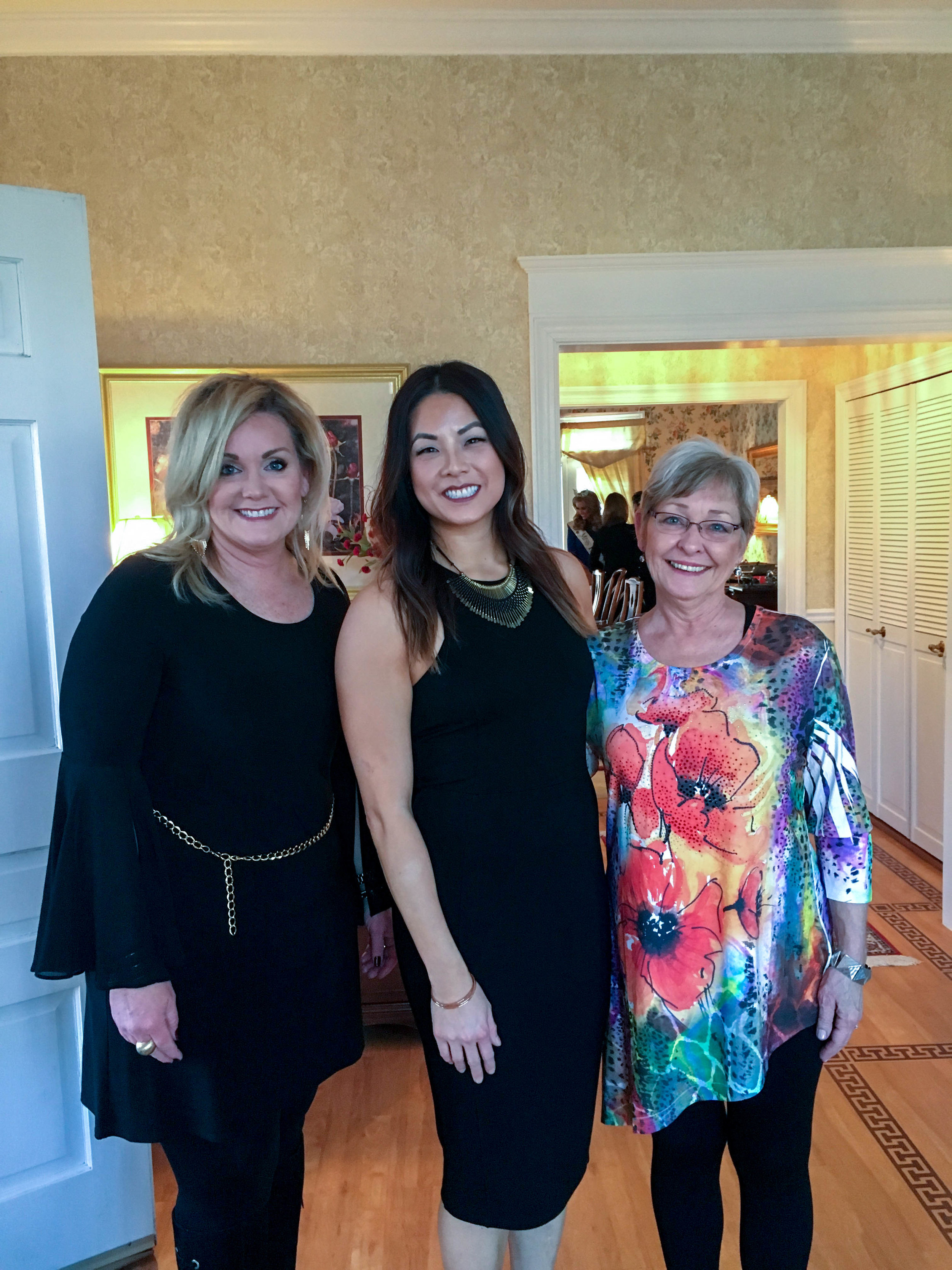 Kathy Waters, Me and Rauna at the Mayor's house.
