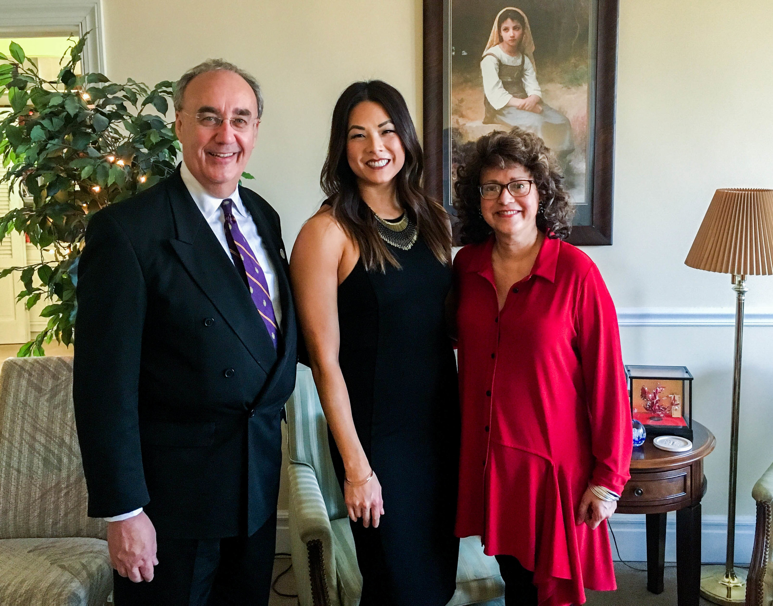 Mayor Mike Inman and his wife, Melissa, hosted the judges' dinner at their home.