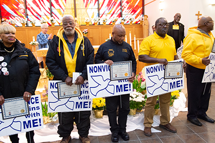 "Buffalo Peacemakers receive ""Nonviolence Begins with Me!"" award"