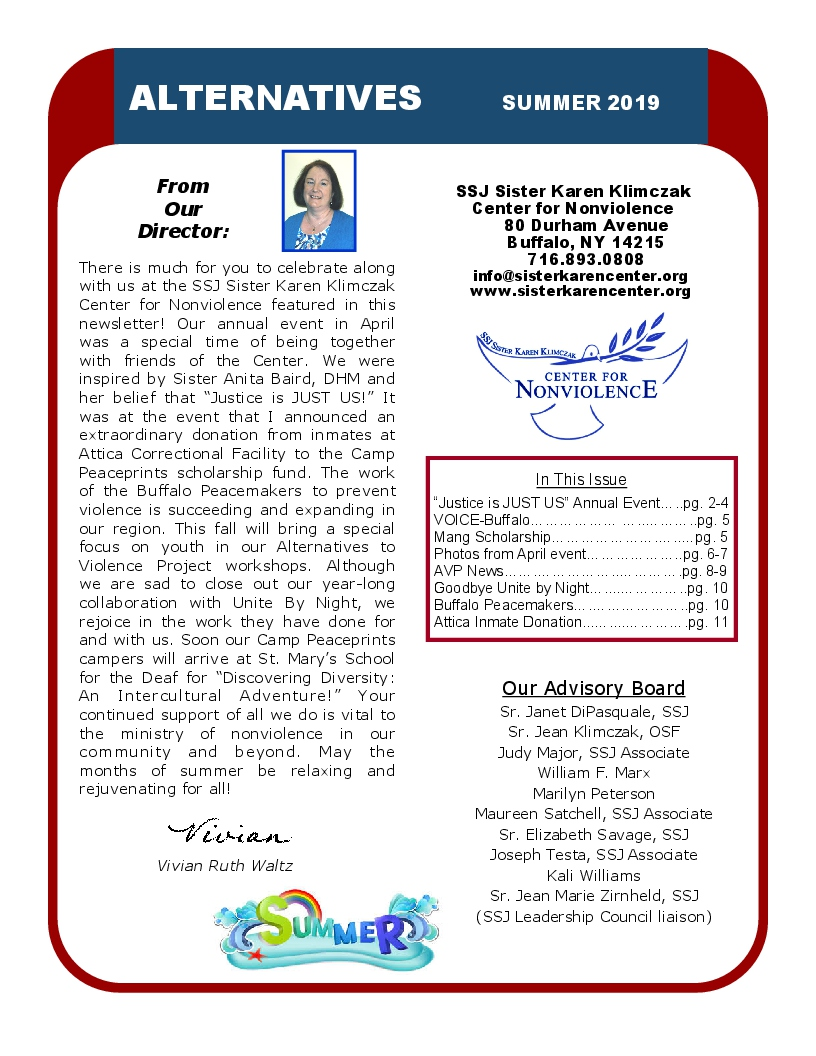 CLICK ON NEWSLETTER TO VIEW SUMMER 2019 NEWSLETTER