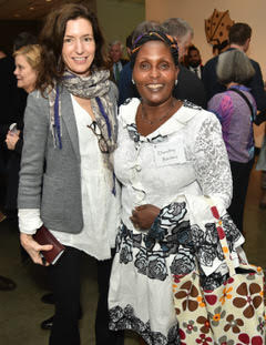Ashley Petus with Dorothy Naitore from TIST Kenya at the William K. Reilly Award in DC.