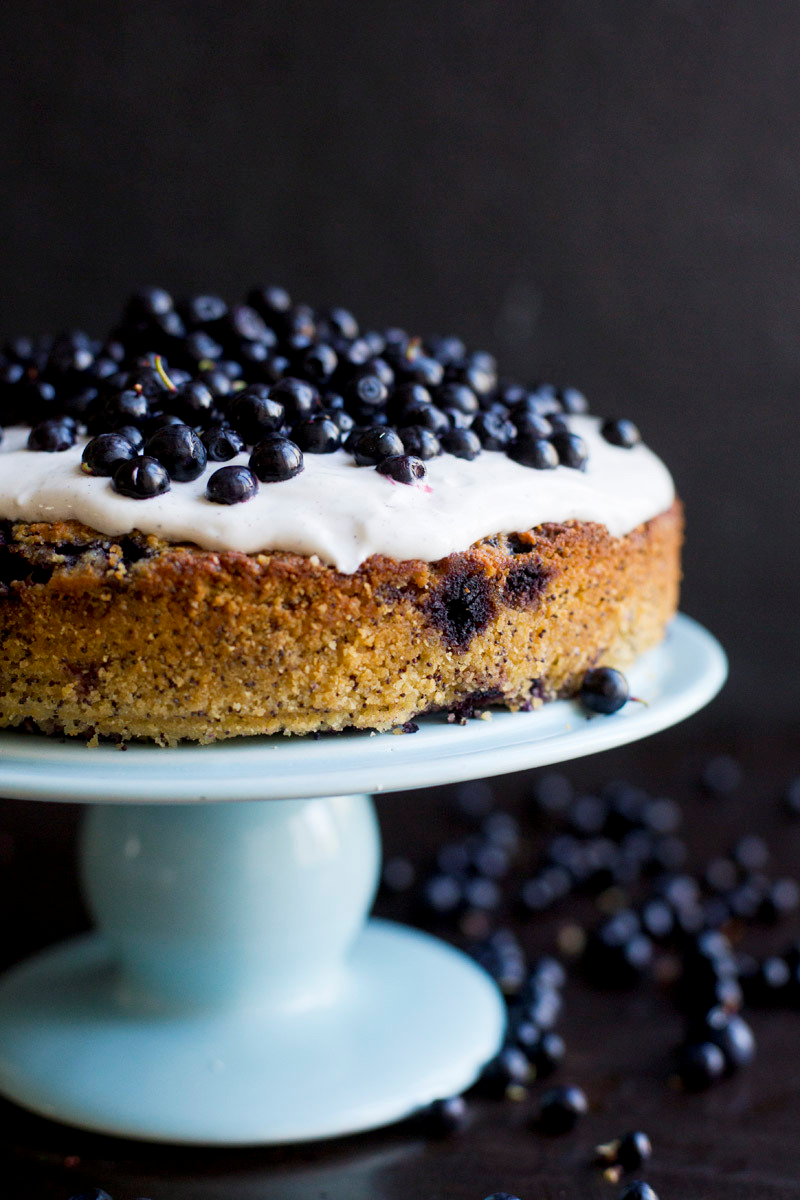 Gluten Free Blueberry, Lemon,  Poppy Seed & Almond Cake