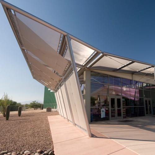 WS Tyler Architectural Woven Metal Fabric; Pima Air Museum , Tucson, AZ