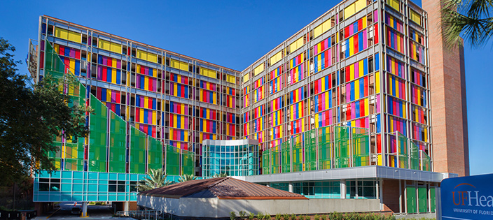 WS Tyler Architectural Woven Metal Fabric;  Shands Children's Hospital