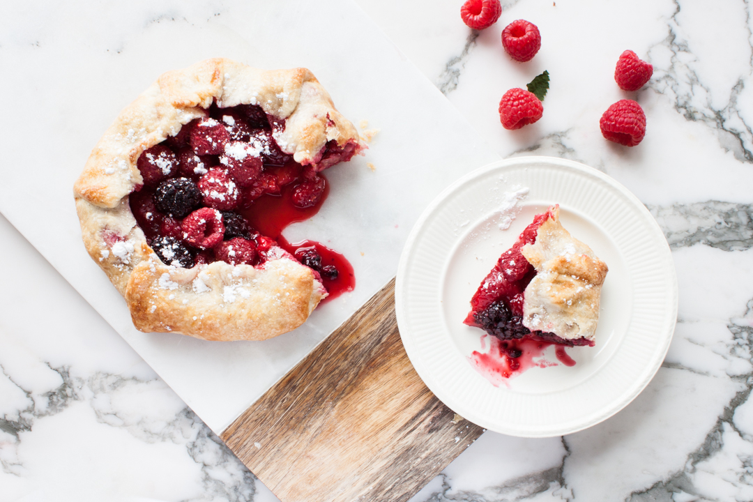 Raspberry and Blackberry Crostata