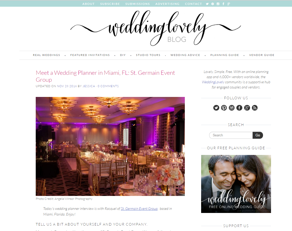 Miami Wedding Planner Wedding Lovely