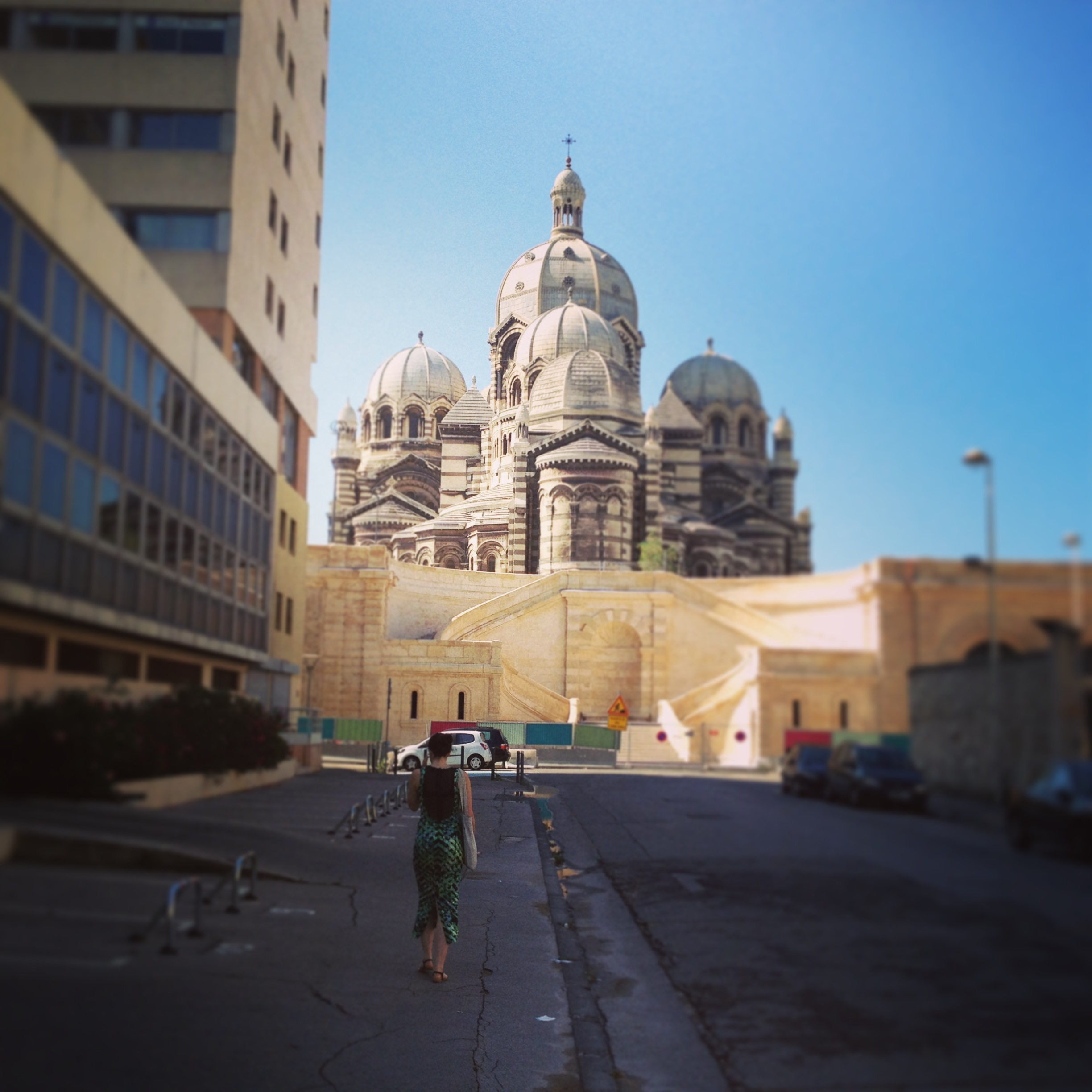 Charlotte goes to the Cathedral in Marseille