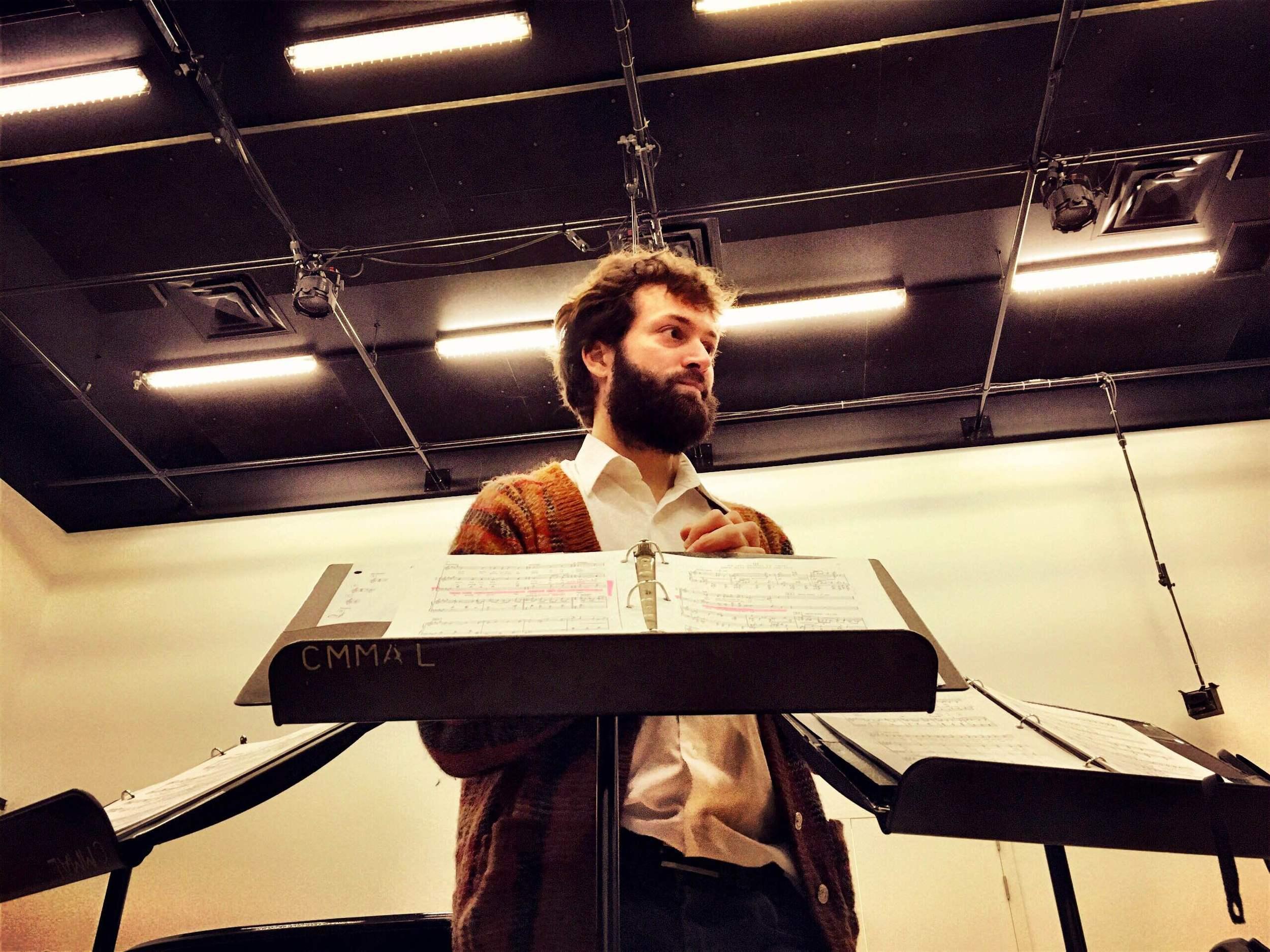 A portrait of our choir chief, Jean-Sebastien