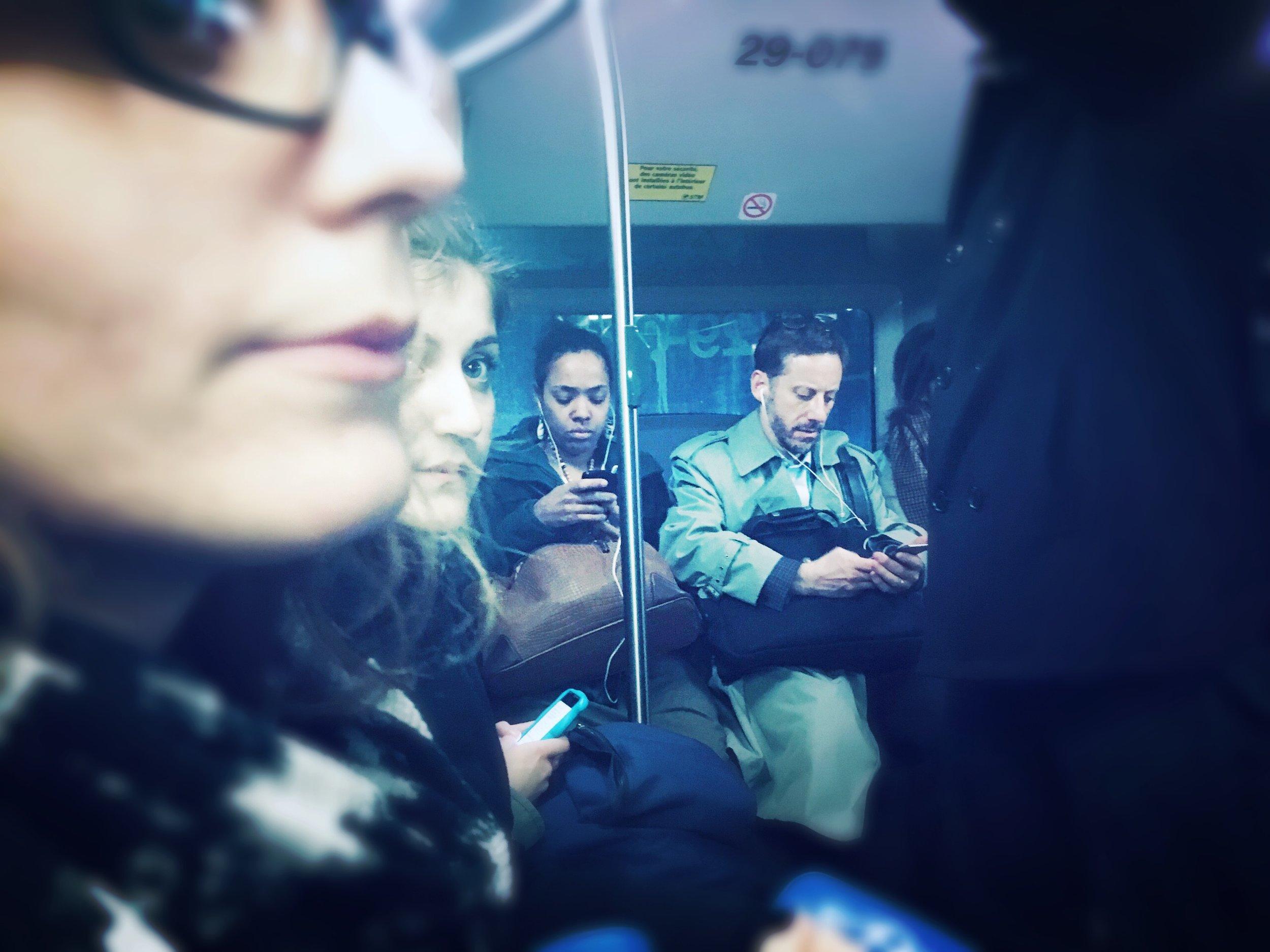 Late night bus transit