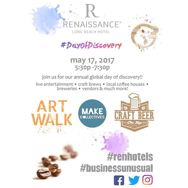 I will be at the #DayofDiscovery art walk at the #Renaissancehotel in #LongBeach today 5:30-7:30pm! I've got some surprise freebies that I'll be handing out and I'll be making origami as well. So if you're in the area come have some craft beer, enjoy music, and shopping! 😊✌️💕 #clockeworkandlace #crafts #craftshow #artwalk #handmadejewelry #globaldayofdiscovery