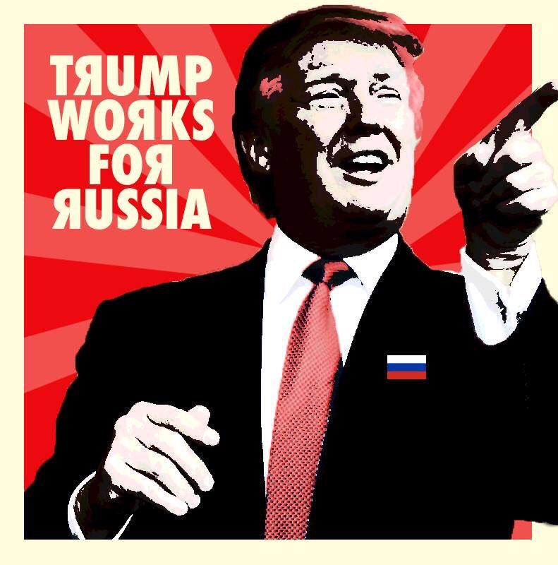 Trump Works For Russia meme