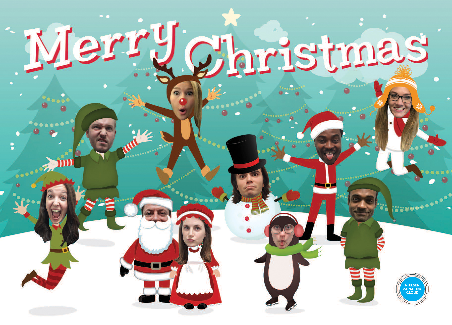 Nielsen Marketing Cloud Christmas card
