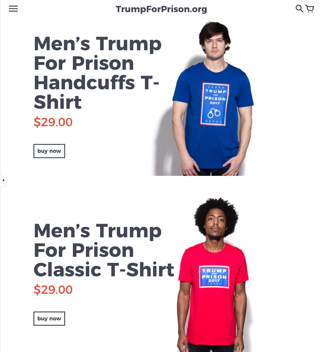 Trump For Prison website