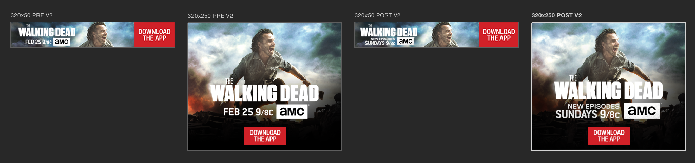 The Walking Dead app screen