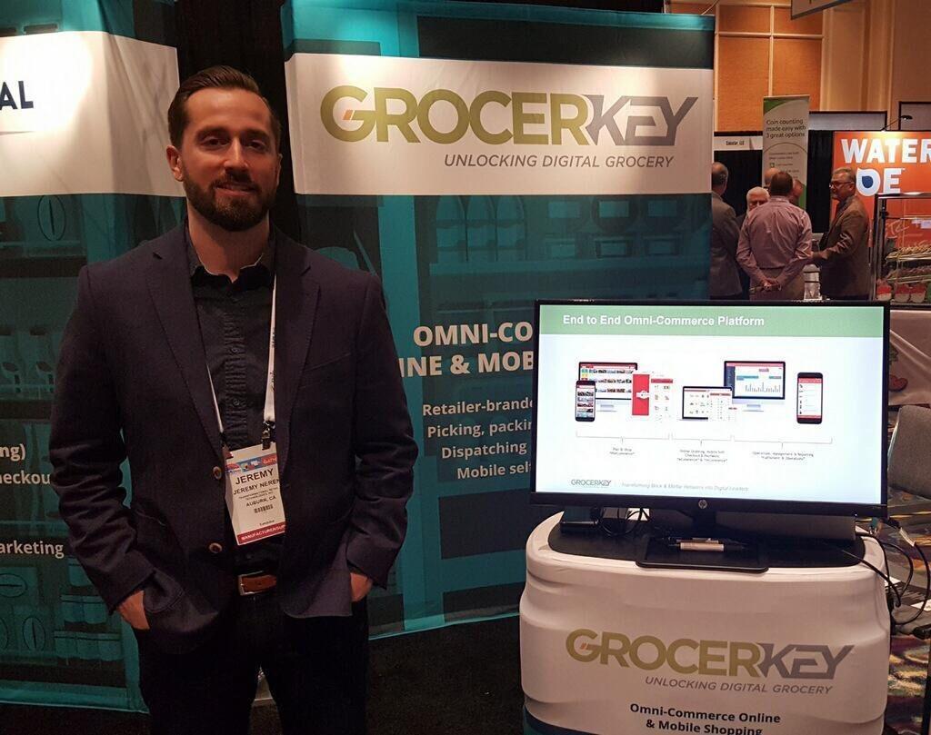 GrocerKey booth at NGA2018