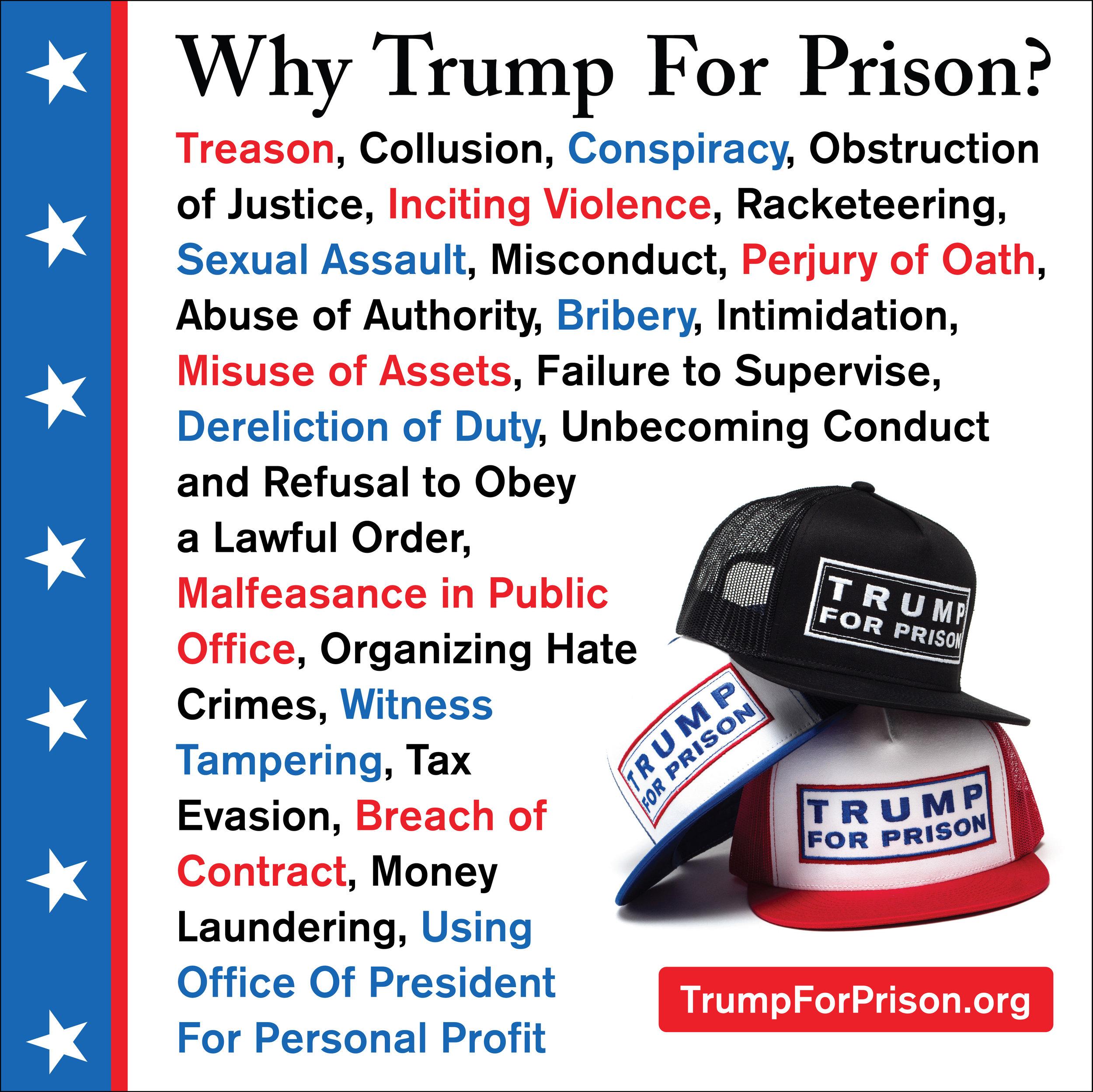 Trump For Prison Crimes List
