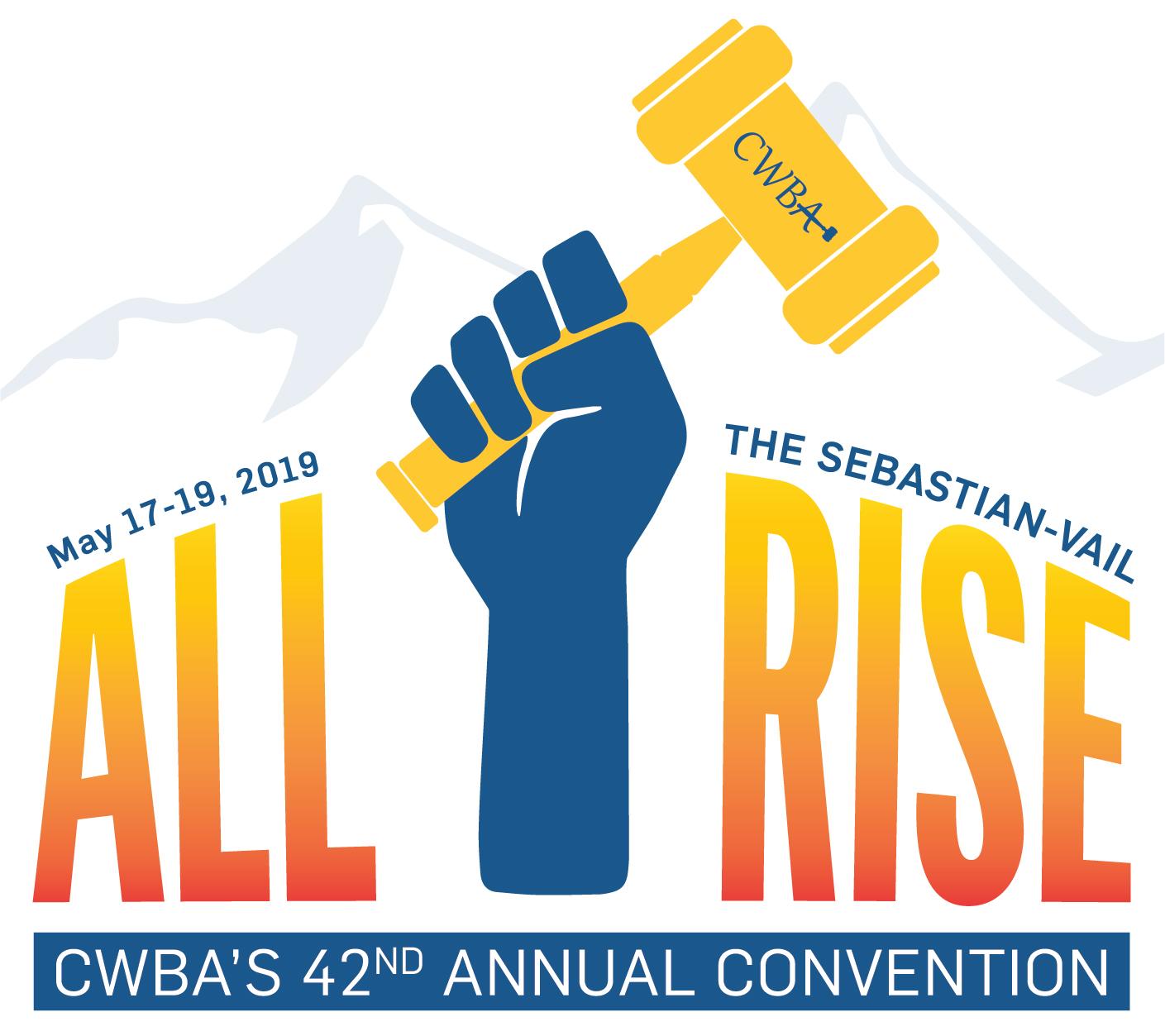 Colorado Women's Bar Association 42nd Annual Convention LOGO