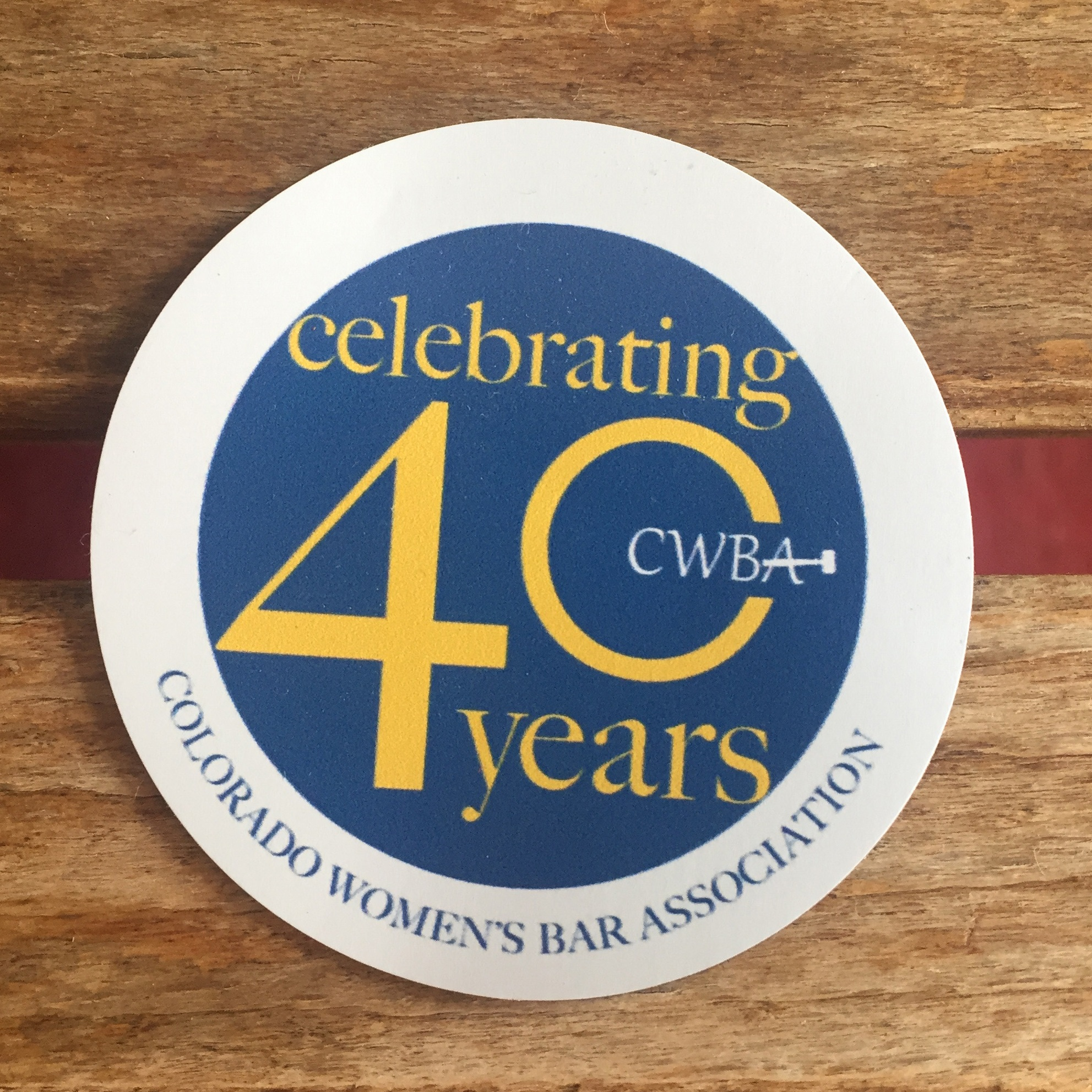 CWBA 40th Year logo