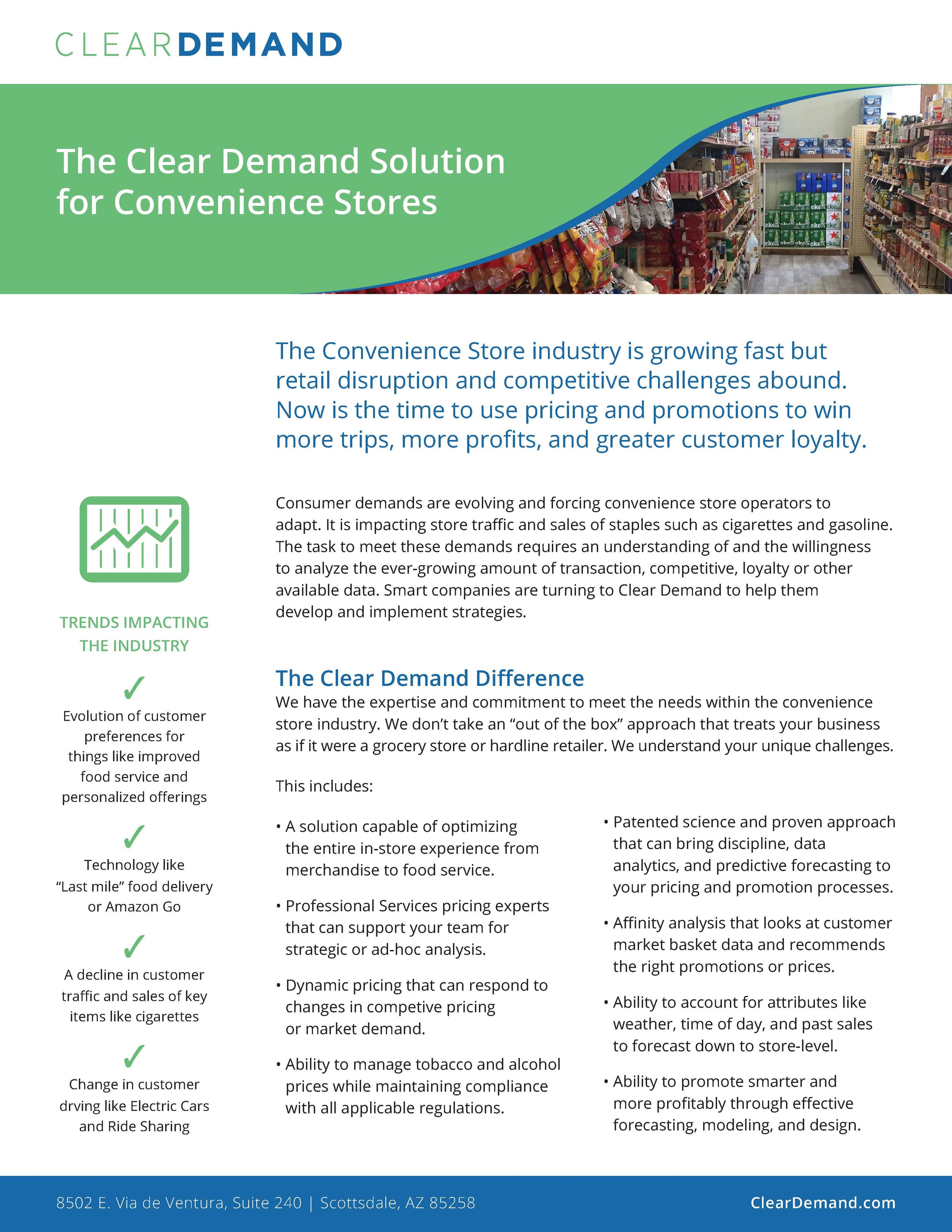 Clear Demand Overview