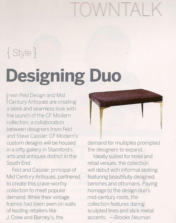 Stamford Magazine   |   Spring 2012   |   Stiletto Bench