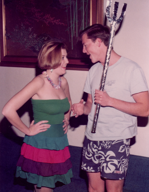 Betsy and Chuck circa 1983. Yes, we're in costume, but this is pretty much how people actually dressed at UCSB in the early 80s.