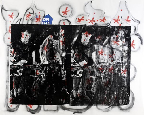 "Russell Young ""White Riot + Sex Pistols"" / source: http://illillill.tumblr.com/post/683935405/russell-young-white-riot-sex-pistols-at"