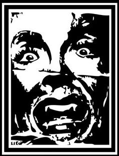 """Dereck Seltzer """"Scream Icon"""" / source: http://hauntedeuth.com/Art-Work-Theft-by-GREEN-DAY"""