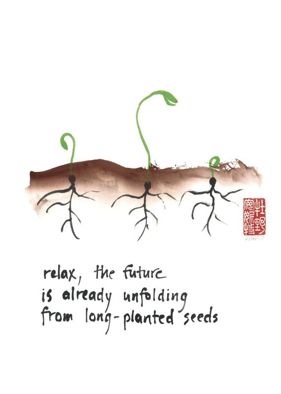 """""""relax, the future"""" © Annette Makino"""